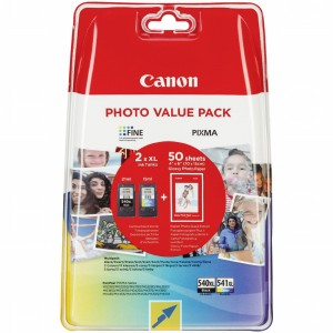 Komplet Tuszy Canon value pack PG-540XL+Cl-541XL+papier photo