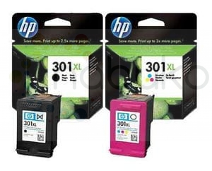 Komplet HP 301 XL Bk + 301 XL Color