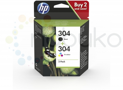 HP 304 2pack Black Tricolor Original Ink Cartridges.jpg